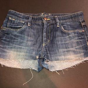 Joe's jeans cute pair of blue denim short shorts.